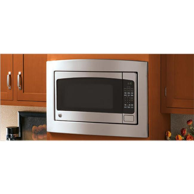 Ge jx2027smss stainless steel 27 inch deluxe built in trim for Microwave ovens built in with trim kit