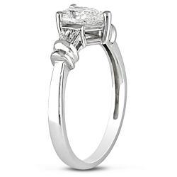 Miadora 14k White Gold 3/4ct TDW Diamond Engagement Ring (H-I, SI2)