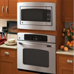 GE JX2027SMSS Stainless Steel 27-inch Deluxe Built-in Trim Kit for GE Countertop Microwave