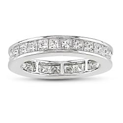 Miadora 14k White Gold 2 1/2ct TDW Diamond Eternity Ring (G-H, SI1-SI2)