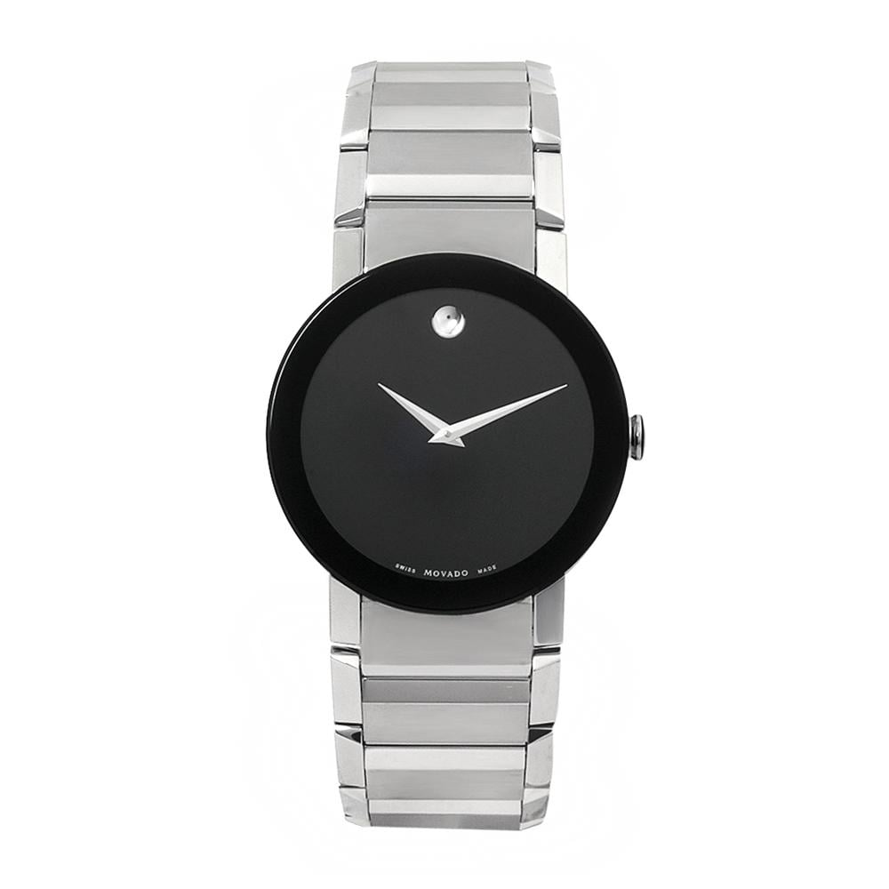Movado Men's Sapphire Stainless Steel Black Dial Watch