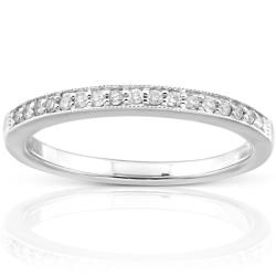 14k White Gold 1/10ct TDW Diamond Wedding Band