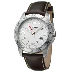 Golana Swiss Men's 'Aero Pro 300' Stainless and Leather Quartz Watch