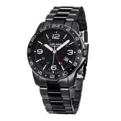 Golana Swiss Men's 'Aero Pro 300' Black Stainless Steel Quartz Watch