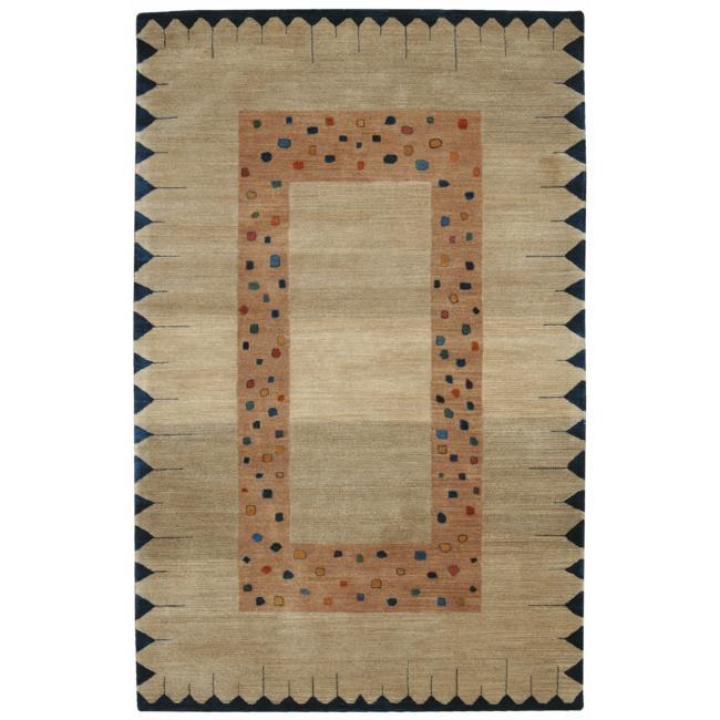 Nourison Hand-tufted Desert Dawn Border Sand Rug (5' x 8')
