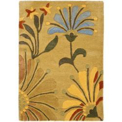 Safavieh Handmade Soho Gold/ Multi New Zealand Wool Rug (2' x 3')