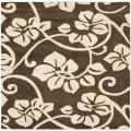 Handmade Soho Brown/Ivory New Zealand Wool Area Rug (6' Square)