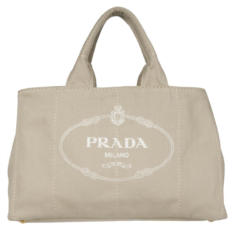 Prada B1872B Beige Canvas Tote Bag - 13492604 - Overstock.com ...