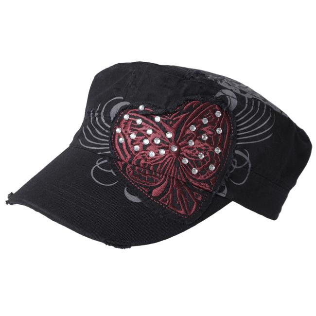 Journee Collection Women's Bullterfly Accent Military Cap