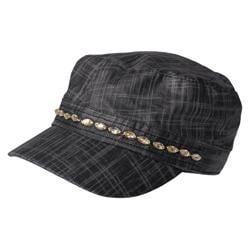 Journee Collection Women's Rhinestone Accent Military Cap