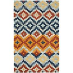 Hand-hooked Chelsea Southwest Multicolor Wool Rug (5'3 x 8'3)