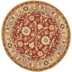 Safavieh Hand-hooked Chelsea Heritages Red Wool Rug (5'6 Round)