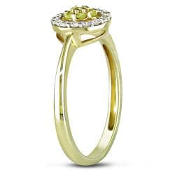 14k Yellow Gold 1/4ct TDW Yellow and White Diamond Ring (G-H, I2)