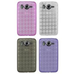Diamond Patterned Crystal Skin Case for HTC Inspire 4G