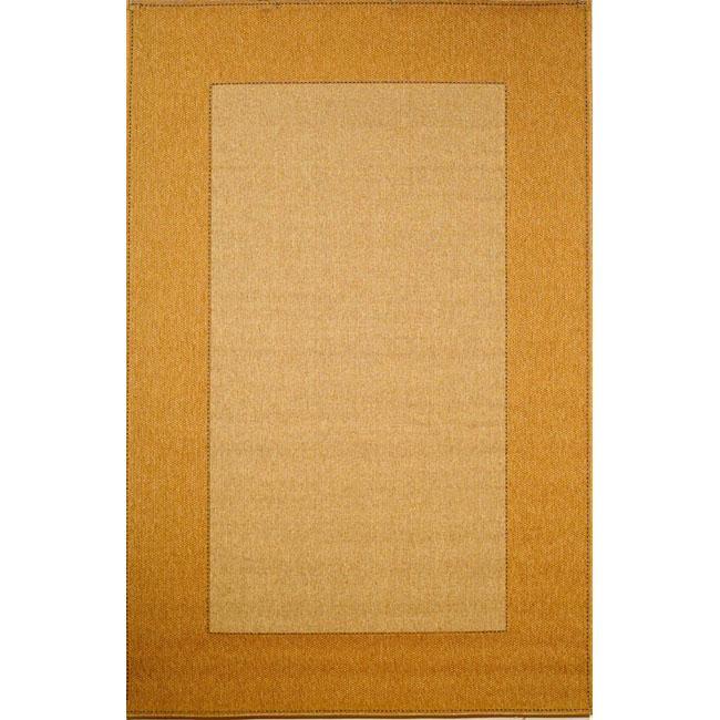 Woven Border Oatmeal Rug (1'11 x 7'6)