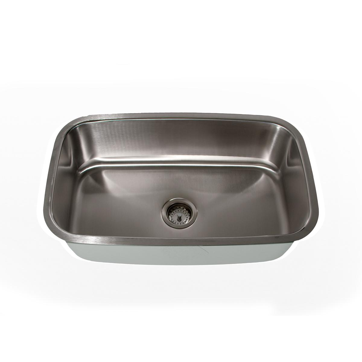 Highpoint Collection Stainless Steel Large Rectangle Single Bowl Kitchen Sink
