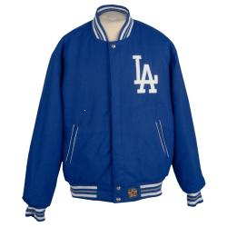 JH Designs Los Angeles Dodgers Reversible Wool Jacket