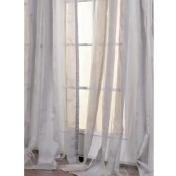 Light Grey Striped 108-inch Sheer Curtain Panel