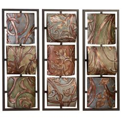 Sienna Vines Metal 3-piece Wall Art