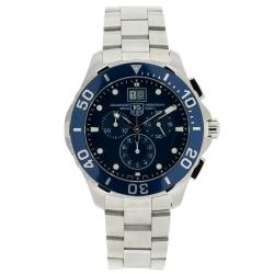 Tag Heuer Men's Aquaracer Stainless Steel Blue Dial Watch