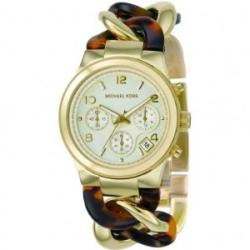 Michael Kor's Women's Tortoise Goldtone Stainless Steel Watch