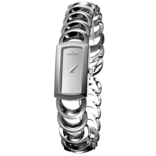 Movado Women's 'Rondiro' Stainless Steel Silver Dial Quartz Watch