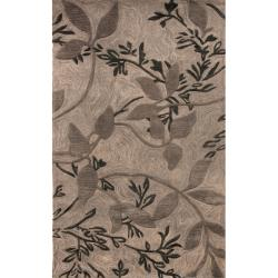 nuLOOM Hand-tufted Evo Vines Grey Rug (8'6 x 11'6)