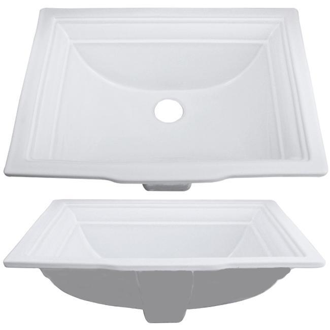 Ticor Undermount / Overmount White Porcelain Vanity Sink