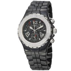 TechnoMarine Women's 'MoonSun' Steel and Black Ceramic Quartz Watch