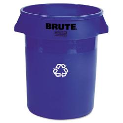 Rubbermaid 'Brute' 32-gallon Blue Plastic Recycling Container