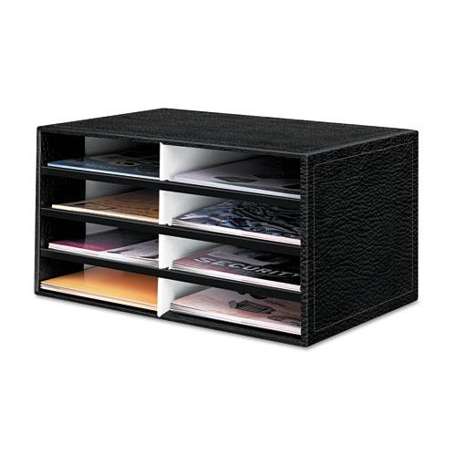 Banker 39 s box black eight section cardboard literature - Desk organizer sorter ...