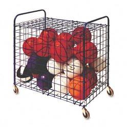 Champion Sports Royal Blue Lockable 24-ball Storage Cart
