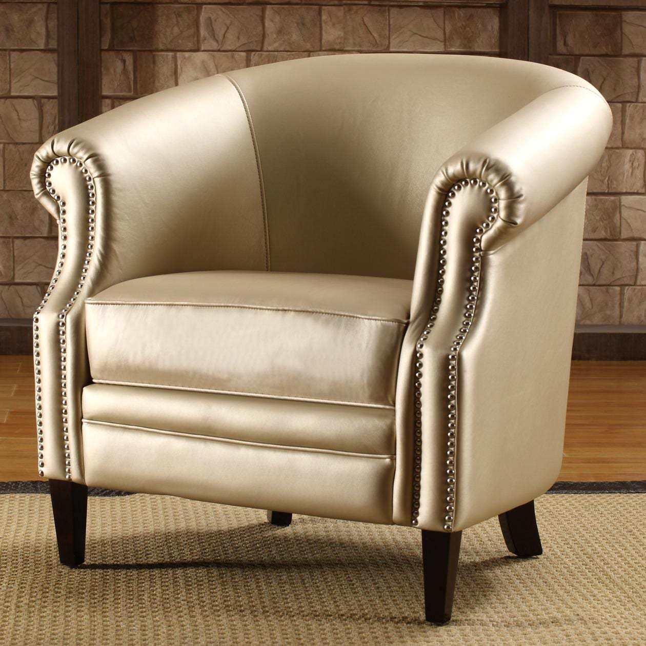 Trenton Gold Metallic Accent Arm Chair 13510866