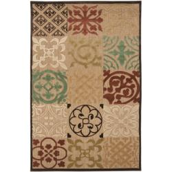 Woven Equinox Natural Indoor/Outdoor Moroccan Tile Rug (5&#39; x 7&#39;6)