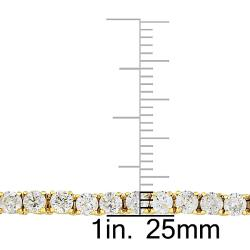 Miadora 14k Yellow Gold 5ct TDW Diamond Tennis Bracelet (G-H, I1-I2)