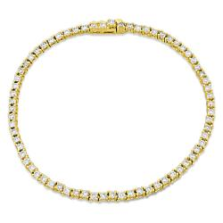 Miadora 14k Yellow Gold 2ct TDW Diamond Tennis Bracelet (G-H, I1)