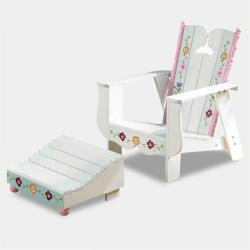 Disney Princess Adirondack Outdoor Chair and Ottomon Set