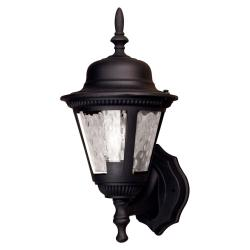 Aztec Lighting Transitional Black Outdoor 1-light Wall Light