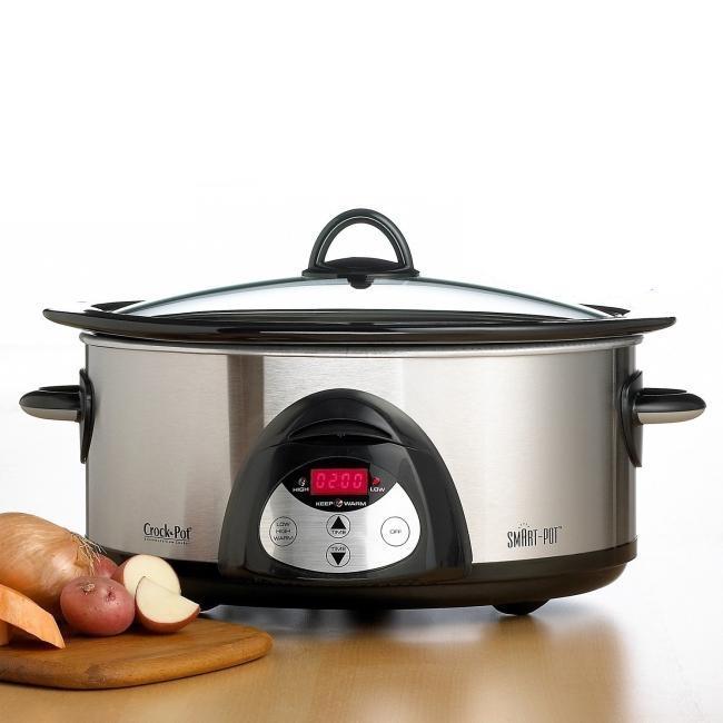 Rival Crock Pot SCVC604HSS 6-quart Programmable Hinged Smartpot Slow Cooker