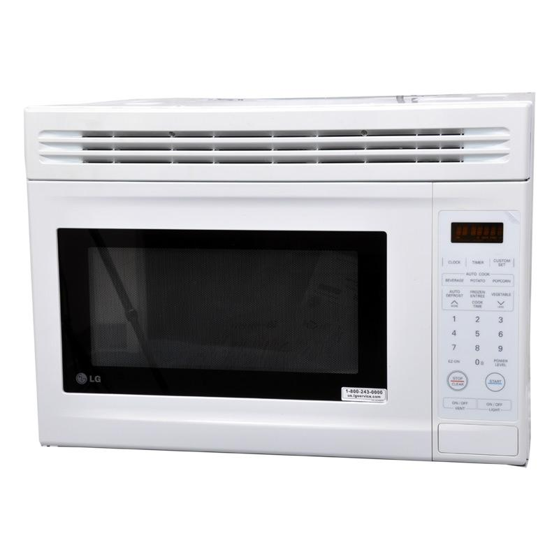 LG LMV1314W White 1.3 Cubic Foot Compact Range Microwave