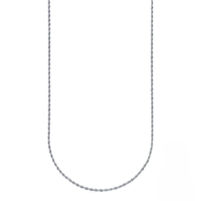 Stainless Steel 30-inch Rope Chain Necklace