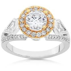 18k Two-tone Gold 1 3/4ct TDW Diamond Ring (F-G, I1-I2)