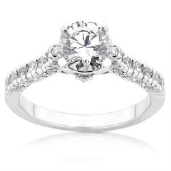 18k White Gold 1 1/6ct TDW Diamond Engagement Ring (F-G, I1-I2)