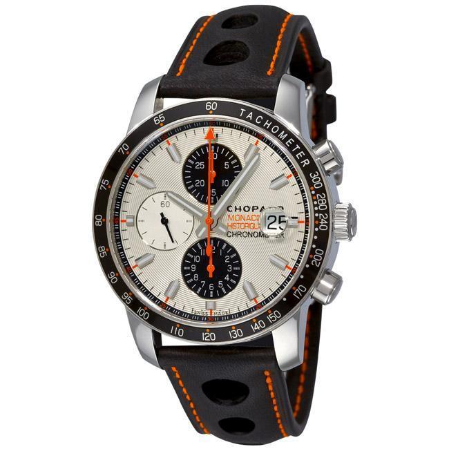 Chopard Men's 'Miglia Monaco' White Dial Chronograph Watch