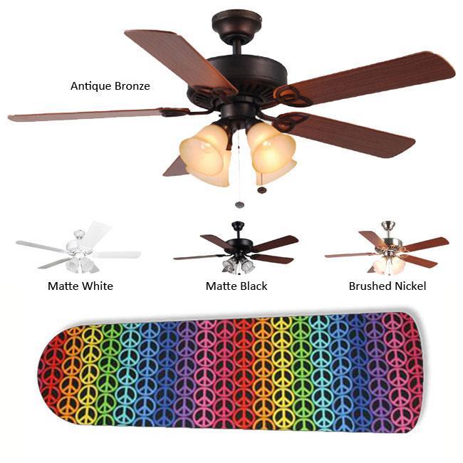 Rainbow Peace Blades 4-light Ceiling Fan