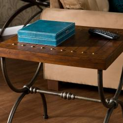 State Espresso End Table