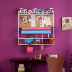 Hays Silver Wall Mount Craft Storage Corkboard Rack