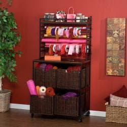 Burnet Espresso Craft Storage Rack and Baskets