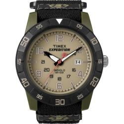 Timex Men's T49833 Expedition Rugged Green/Black Fast Wrap Velcro Strap Watch