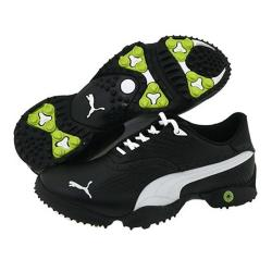Puma Men's Scramble Black/ Gray/ Green Golf Shoes